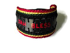 Jah Bless WordSound Faux Leather Wristband by LionessXpressions, $24.99