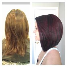 I like the length in the front but I would want it with a stronger angle and a little shorter in the back.......Before and After. Hair by Avarie.