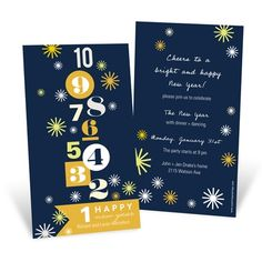 New Year Invitations -- Bold Countdown