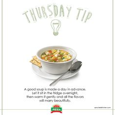 An informative tip on how to make a good soup...