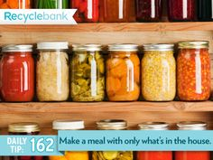 Make a dish using whatever you have in the house. Gojee is a site that can help you match your ingredients to a recipe!