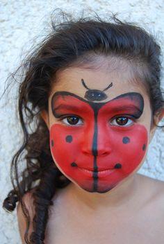 Afbeeldingsresultaat voor lieveheersbeestje schminken stap voor stap