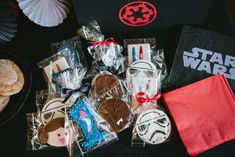 Check out the cool cookies at this Star Wars Birthday Party!! See more party ideas and share yours at CatchMyParty.com #cookies #starwars