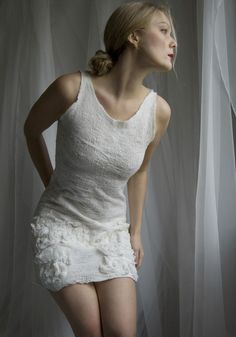 Nuno felted eco dress