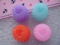 8 pcs resin Jelly sweet cabochons