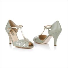 mimosa pale mint by Rachel Simpson   Wedding Shoes by Rachel Simpson   Bridal Shoes by Rachel Simpson from Arabesque.