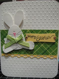 punch bunny, love the plaid and the gingham!  It is presented in three different arrangements!