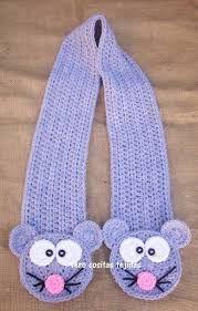 Resultado de imagen para bufandas para niños a crochet Crochet Potholder Patterns, Crochet Wrap Pattern, Crochet Flower Patterns, Cute Crochet, Beautiful Crochet, Crochet Scarves, Crochet Shawl, Childrens Crochet Hats, Toddler Scarf