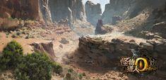 Environment Design for Monster Hunter Online, Mu Yu-jiang on ArtStation at https://www.artstation.com/artwork/k2l26