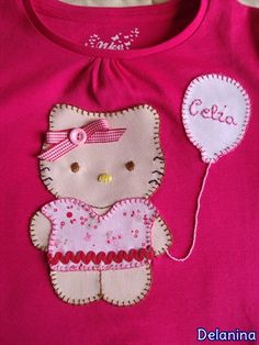 Camiseta Hello Kitty patchwork Hello Kitty, Onesies, Diy, Clothes, Fashion, Scrappy Quilts, Outfits, Flannels, T Shirts