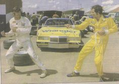 """""""Bobby Allison and Dale Earnhardt. Nascar Race Cars, Old Race Cars, Real Racing, Auto Racing, Throwback Day, Late Model Racing, The Intimidator, Ryan Blaney, Mario Andretti"""