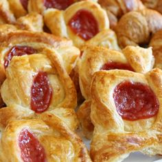A very yummy recipe for raspberry Danish pastries. Perfect enjoyed with a hot tea.. Raspberry Danish Pastries Recipe from Grandmothers Kitchen.