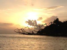 Chinese fishing nets, Cochin, Kerala, India