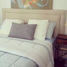 respaldo de cama de tela 2 plazas