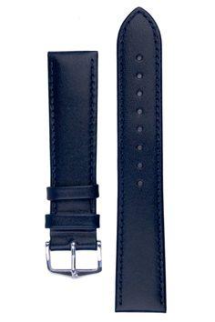Hirsch OSIRIS Calf Leather Watch Strap in BLUE
