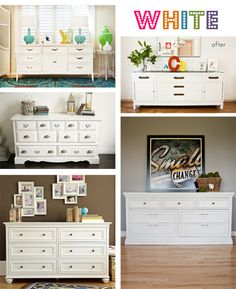white painted dressers for ideas