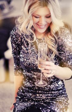 sequins and champagne