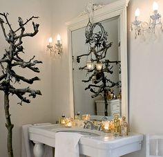 Natural Elements Holiday Bath, Art et Decoration, as seen on linenandlavender.net