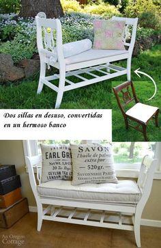 De Todo, Un Poco .: Banco reutilizando dos sillas