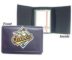 Baltimore Orioles Embroidered Leather Tri-Fold Wallet