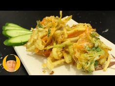 Como fazer Tempurá seco e crocante receita do Kazu - YouTube Tempura Vegetables, Barley Salad, Chicken Legs, Japanese Food, Quiche, Just In Case, Sushi, Cabbage, Low Carb