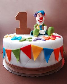 Clown Birthday Cake