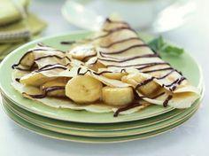 Pannenkoeken met banaan en chocola