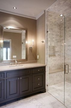 kitchen cabinets with bulkhead master bathroom add tile flooring frame the mirror stain 6465