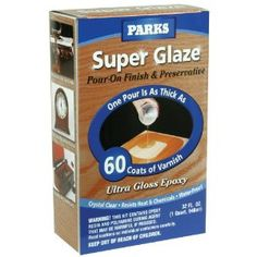 For our bottle cap table : Rust-Oleum 241352 Parks Super Glaze Ultra Crystal Pour On Epoxy Finish Kit, Clear Gloss