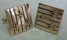 SWANK Goldtone FleurdeLis Cufflinks by AtticBasement on Etsy, $14.00