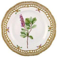 Flora Danica Plate from Royal Copenhagen Pierced Border