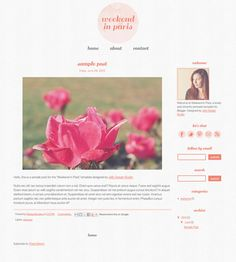 PreMade Blogger Template // Weekend in Paris by jellydesignstudio #blogger #etsy
