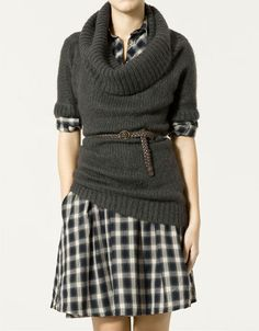 Ah! pefect with some fun colored tights and flats or boots for the fall and even into winter! CUTE!