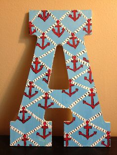 Lilly Pulitzer inspired Painted Letter