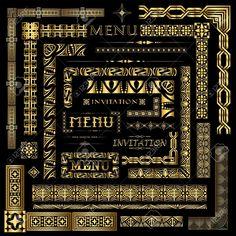 gold art deco border - Google Search