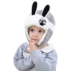 0ae86289027 Baby Kids Cute Cartoon Rabbit Ears Fleece Cap Winter Warm Earmuffs Hat  Skiing Cap with Ear Flap for 1-3 Yrs  headbands  hedbanzspiel   headbandsforsophia ...