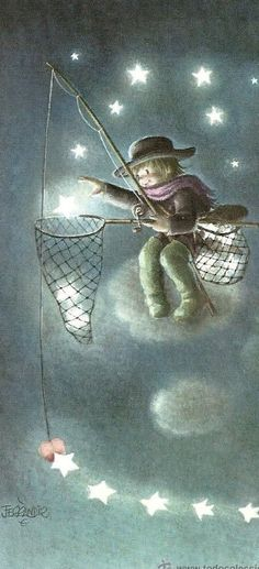 The Collection - Juan Ferrándiz Sun And Stars, Good Night Moon, Moon Art, Whimsical Art, Cute Illustration, Dragons, Fantasy Art, Sketches, Artwork