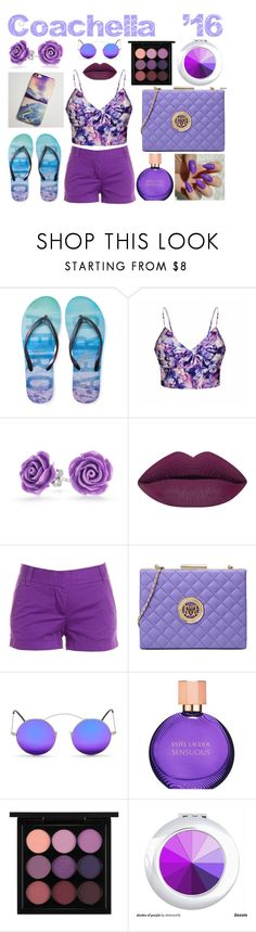 """""""Purple Coachella '16 Outfit"""" by retailite ❤ liked on Polyvore featuring Aéropostale, Ally Fashion, Bling Jewelry, J.Crew, Love Moschino, Spektre, Estée Lauder and MAC Cosmetics"""