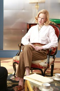 "womensweardaily:  Costume Designer Gigi Lepage Talks  'Grace of Monaco' Photo by David Koskas/Stone Angels Here, costume designer Gigi Lepage discusses dressing Nicole Kidman for ""Grace of Monaco."""