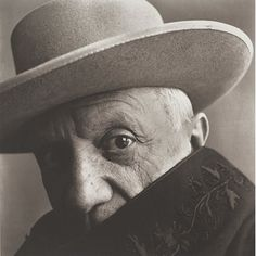 <> By Irving Penn, 1957, Picasso at 'La Californie', Cannes, France, National Gallery of Art, Washington.