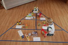 What a fun way to teach about the food groups!, little ninos pizzeria