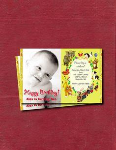 Little Golden Book Inspired - DIY Printable Custom Personalized Birthday Invitation