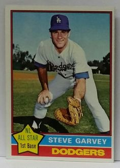 You are looking at a Treasured card of a classic 70's/80's Dodgers Hitter: * 1976 Topps #150 Steve Garvey * L.A. Dodger Garvey was feared at the plate as well as on the field. Led the NL in Hits a few