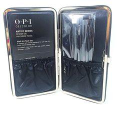 OPI GelColor Artist Series - Design Gel Precision Tools Set Of 4      Dotting Brush     French Smile Line Brush     Striping Brush     Oval Clean-Up Brush