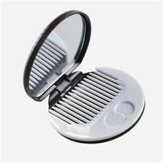Compact Chocolate Cookie Makeup Mirror with Plastic Comb (2 pcs)