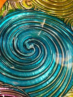 Glass Tray. All Things Teal - Donna Vincent Roa.