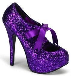 sparkly purple shoes | clara