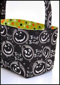 Halloween Trick or Treat Basket candy bucket by ladesigns2 on Etsy, $24.00