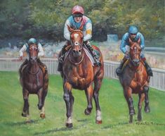 Frankel Sussex Stakes Race - Goodwood Racehorse Horse Racing Art Oil Painting | #1777191297