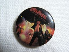 Vintage 80s Judas Priest / Rob Halford Unleashed in the East Album (1979) Pin / Button / Badge by beatbopboom on Etsy